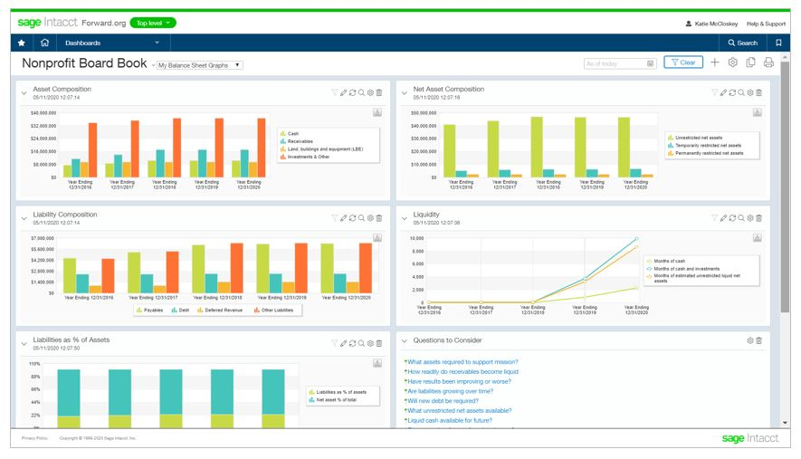 Sage Intacct Nonprofit Digital Board Book