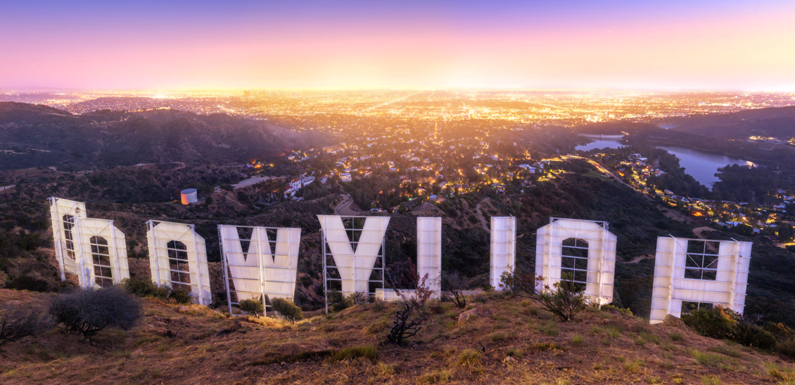 Back of Hollywood Sign